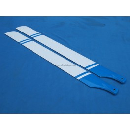 Carbon mainblades 700 (blue-wite)