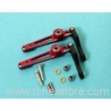 PV0807R Alu flybar control lever (red)