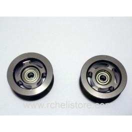 HT0010 Alu. guide pulley set (2pcs)